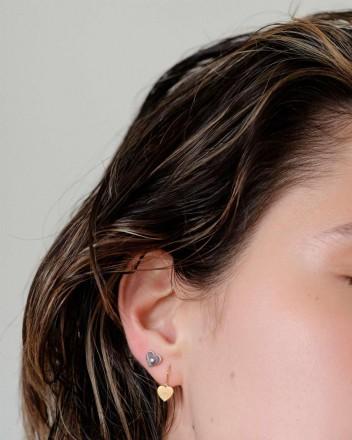 Hanna Hoop Heart Earrings...
