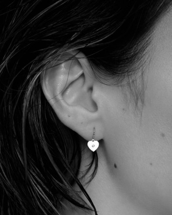 Rudy Hoop Heart Earrings In...