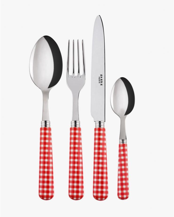 Vichy Red Cutlery Set