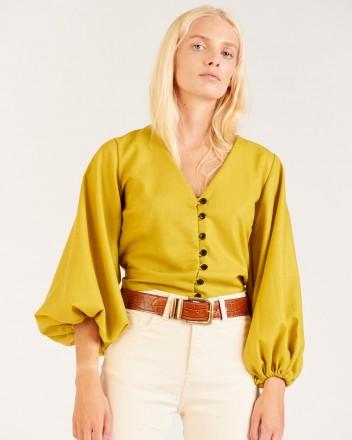 Magnolia Blouse in Green
