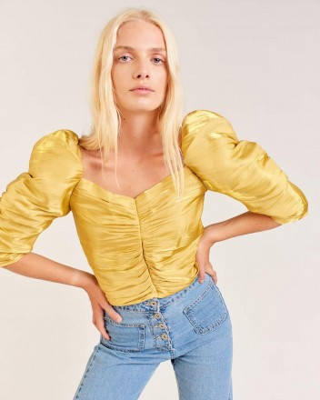Lore Top in Yellow
