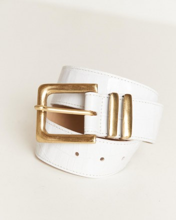 Cleo Belt in White