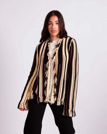 Ceibo Short Knitted Coat in...
