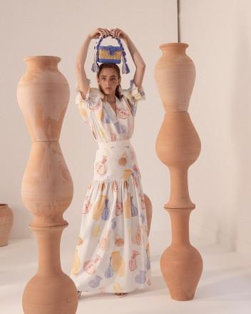 Caral Skirt in Huacos Print