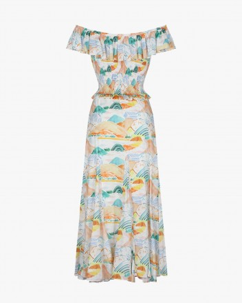 Teresa Dress in Montanas Print