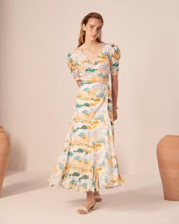 Izula Dress in Montanas Print