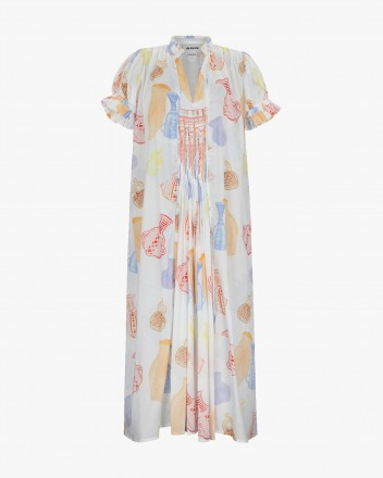 Chancay Dress in Huacos Print