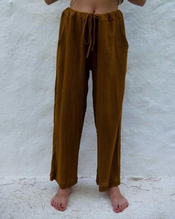 Pyjama Pants Andrea in Coffee