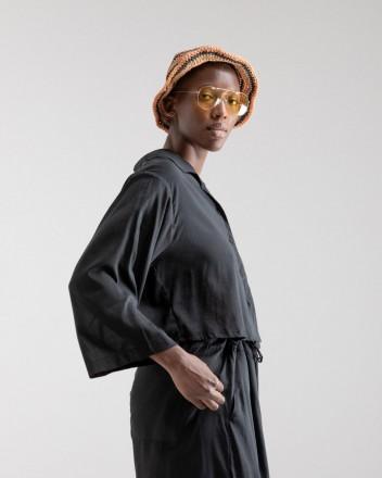 Cropped Shirt Jil in Black