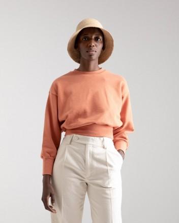 Cropped Sweater in Mango