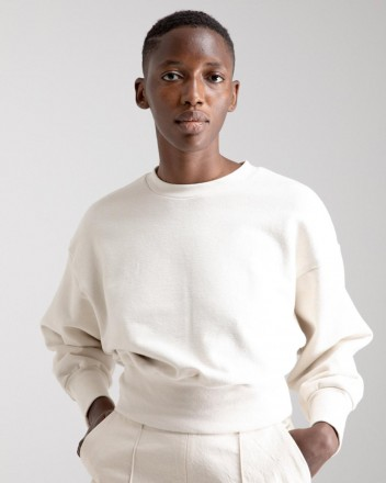 Cropped Sweater in Off White