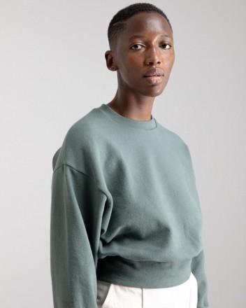 Cropped Sweater in Jungle...