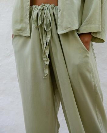 Pyjama Pants Andrea in Sage...
