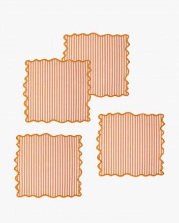 Pierre Stripe Coaster Set