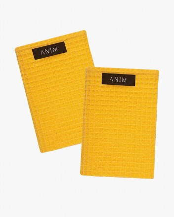 Ley Hand Towel Set in Yellow