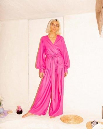 Kaya Blouse Hibiscus Pink