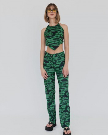 Howdy Top in Forest Green