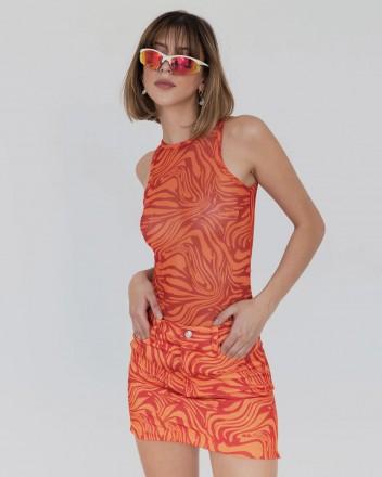 Funk That Skirt in Orange...