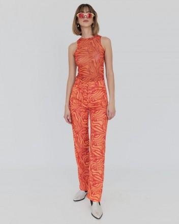 Howdy Pants in Orange Swirl