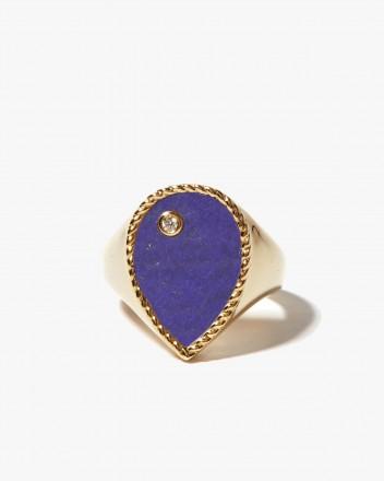 Chevaliere Poire Lapis Lazuli