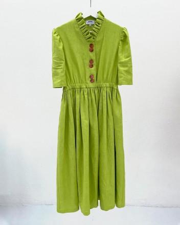 Eleonora Green Linen Dress
