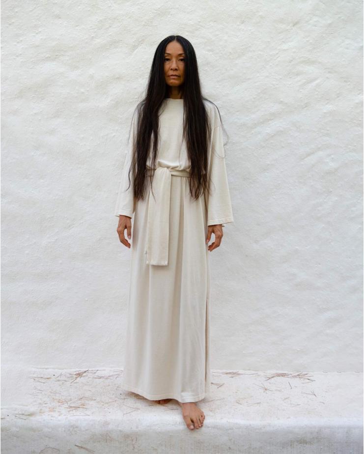 Vintage Loose Dress Pina in Ivory