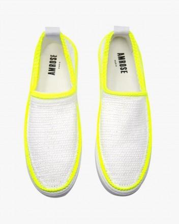 Neon Lemon Minimalist Sneakers