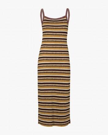 Wine Stripe Dress