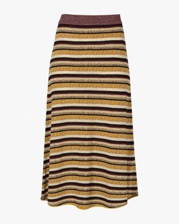 Wine Stripe Skirt