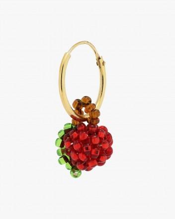 Mini Red Apple Earring