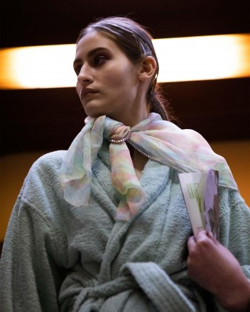 The Square Scarf in Moonage...