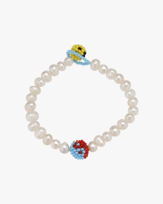 Pearl Red Yellow Emotions Bracelet