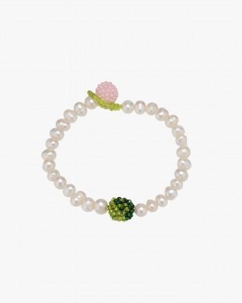 Pearl Green Yin Yang Bracelet