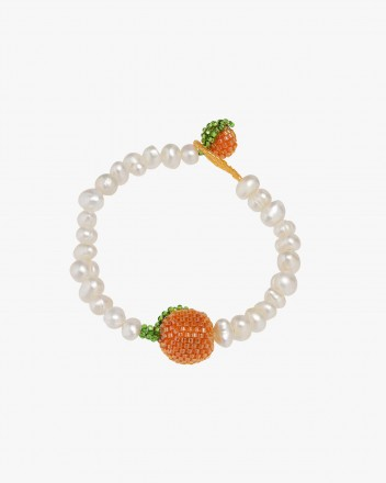 Pearl Bright Orange Bracelet
