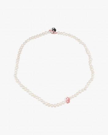 Pearl Simple Pink Black Yin...
