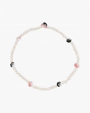 Pearly Pink Black Yin Yang...