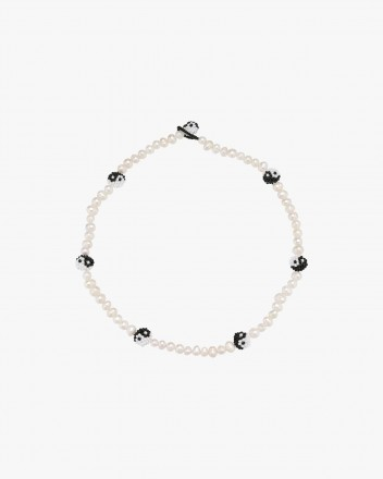 Pearly Yin Yang Necklace