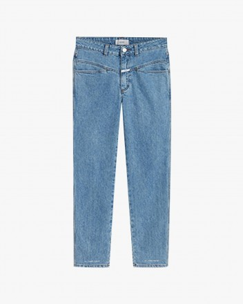 Pedal Pusher Trouser in Blue
