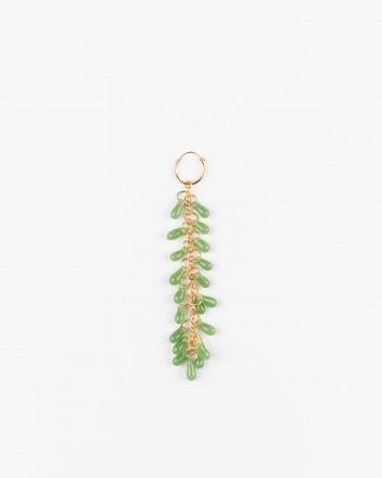 Crystal Earrings in Lime