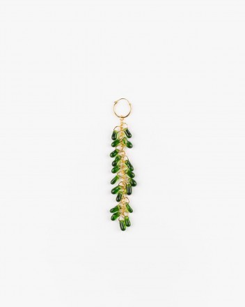 Crystal Earrings in Green