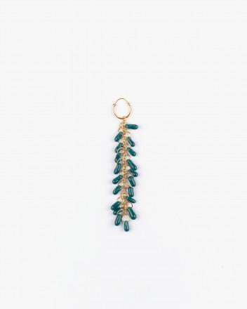 Crystal Earrings in Aquamarine