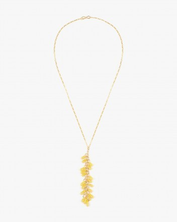 Crystal Necklace in Yellow