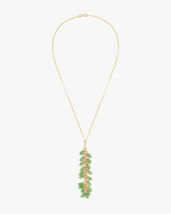 Crystal Necklace in Lime