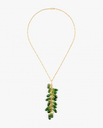 Crystal Necklace in Green