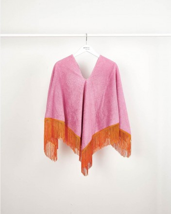Poncho Towel Pink And Pomelo