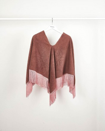 Poncho Towel Brown And Pink