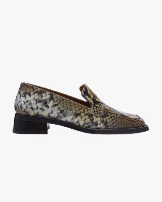 Crimson Laurel Snake Print Loafers