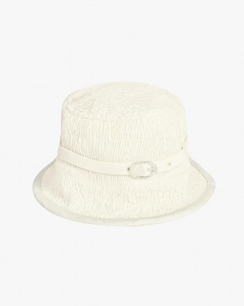 Coral Hat in White