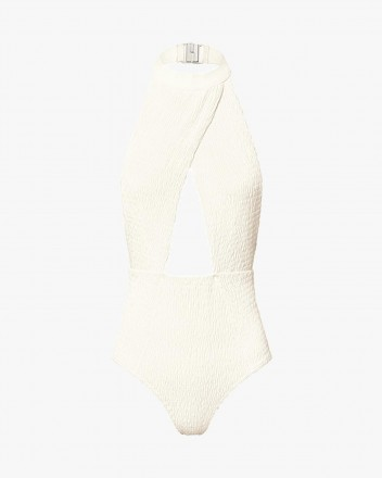 Coral Swimsuit in White