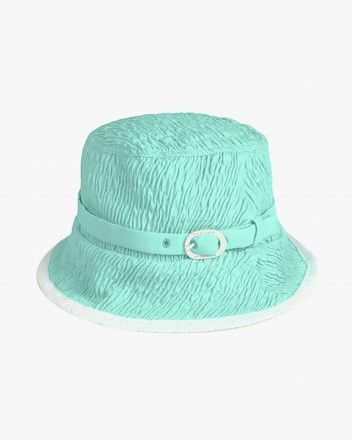 Coral Hat in Blue